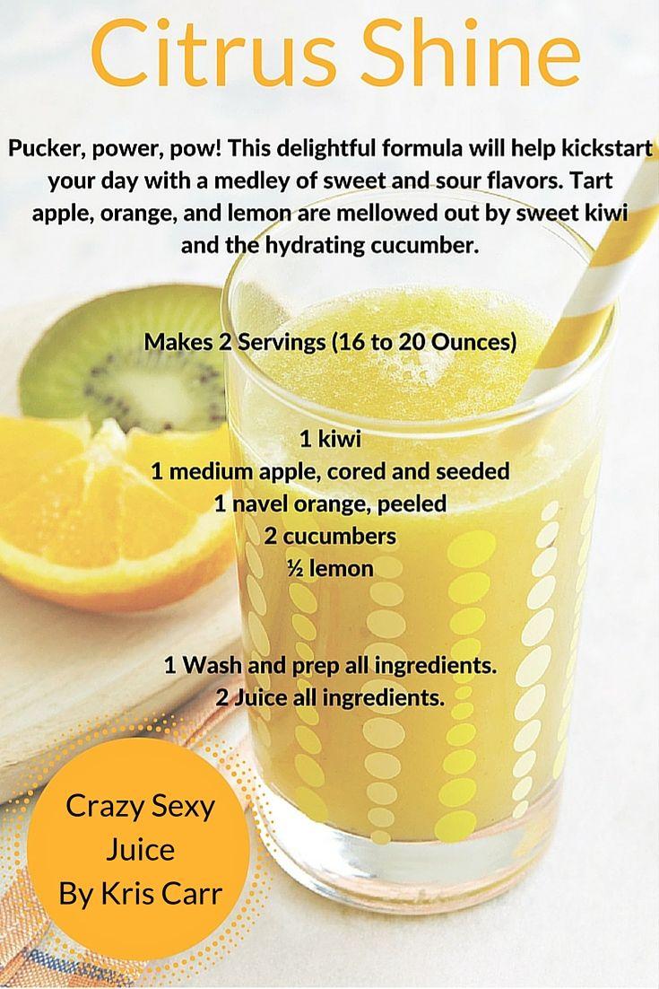 Pucker, power, pow! Kris Carr has 100+ simple juice recipes in her new book Crazy Sexy Juice.
