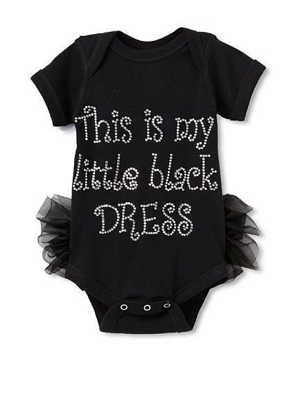 """Never too young to include a """"little black dress"""" for your fashionista in traini"""