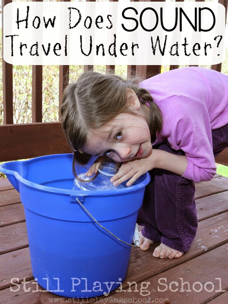 Discover how sound travels under water with this simple science experiment for kids