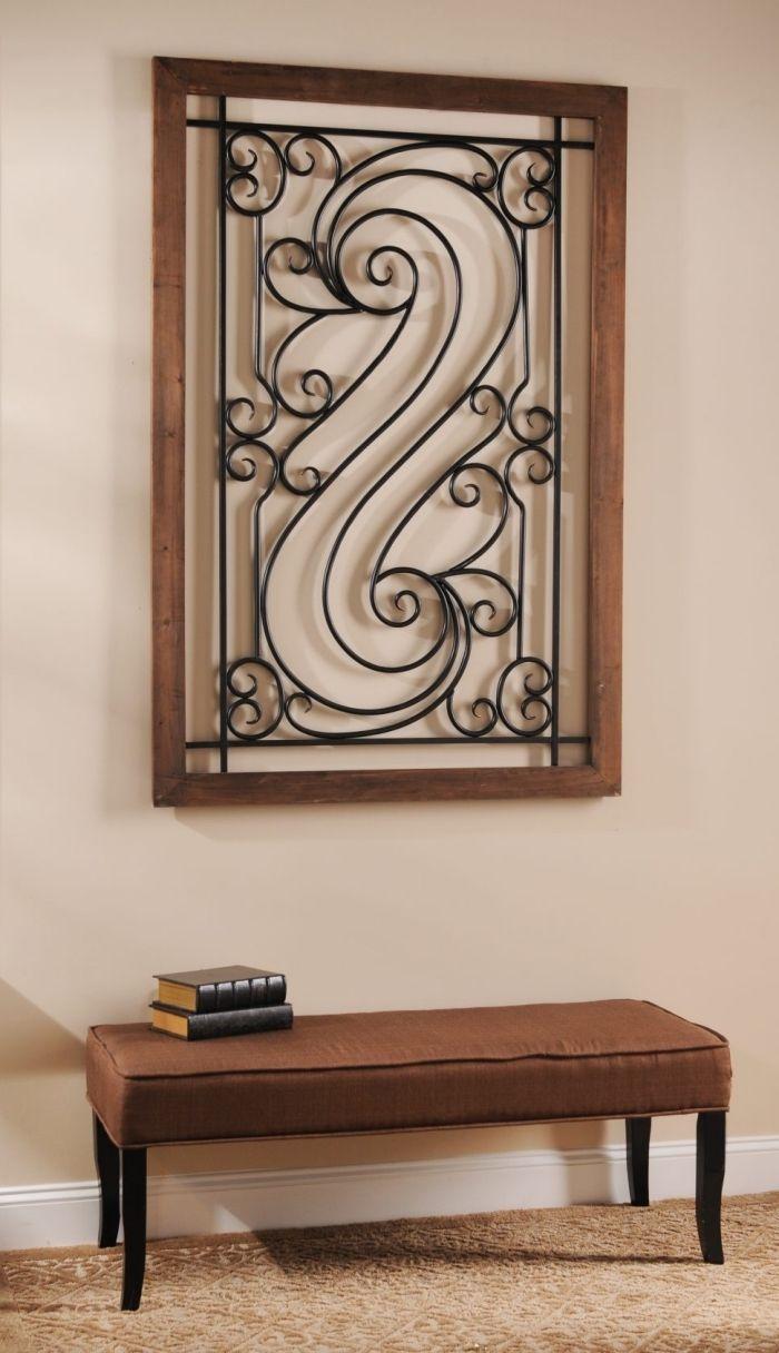 1001 id es pour une d coration murale en fer design. Black Bedroom Furniture Sets. Home Design Ideas