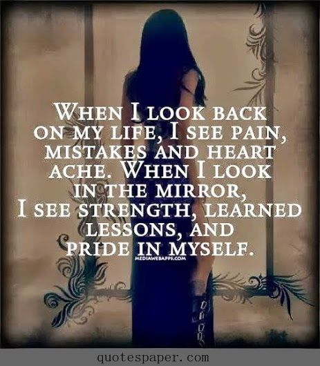 When I look back...