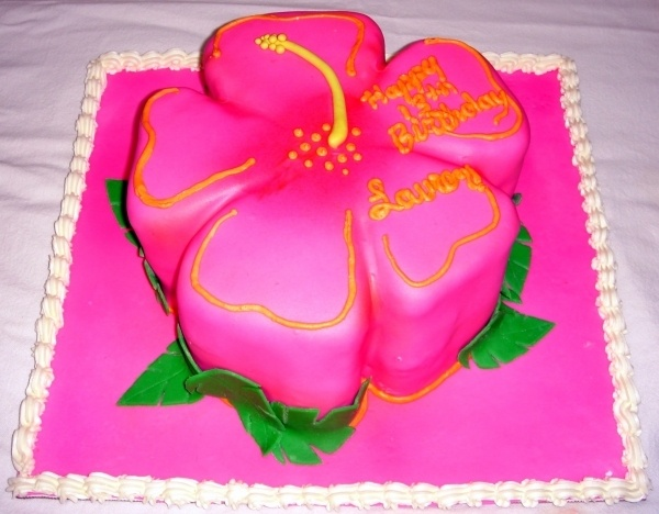 Cake idea - Hibiscus cake from cakecentral.com