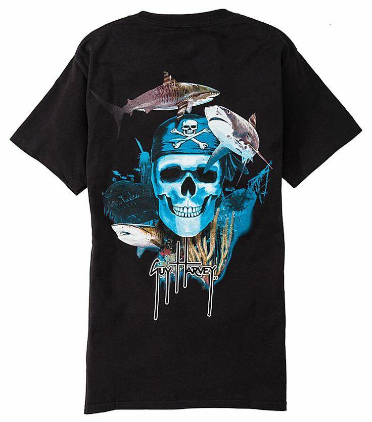 Guy Harvey Pirate Reef T Shirt For Men Short Sleeve