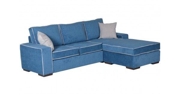 Γωνιακός καναπές υφασμάτινος Morena