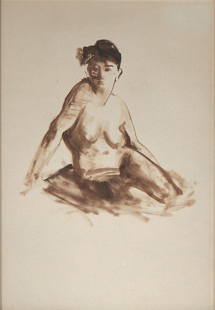 ROBERT (COZAD) HENRI, American (New York / Pennsylvania) 1865-1929, Seated Nude; M. Ford Creech Antiques & Fine Arts, Memphis, TN
