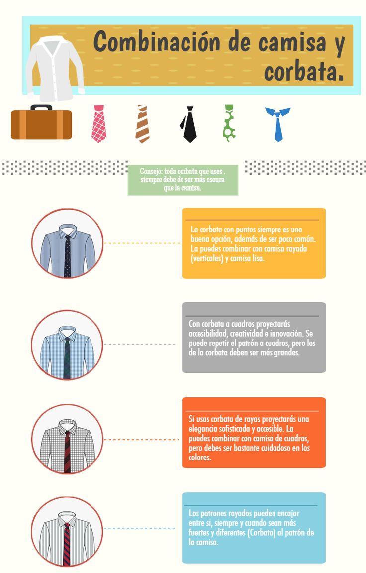 Cómo Combinar camisas y #Corbatas para #Hombre