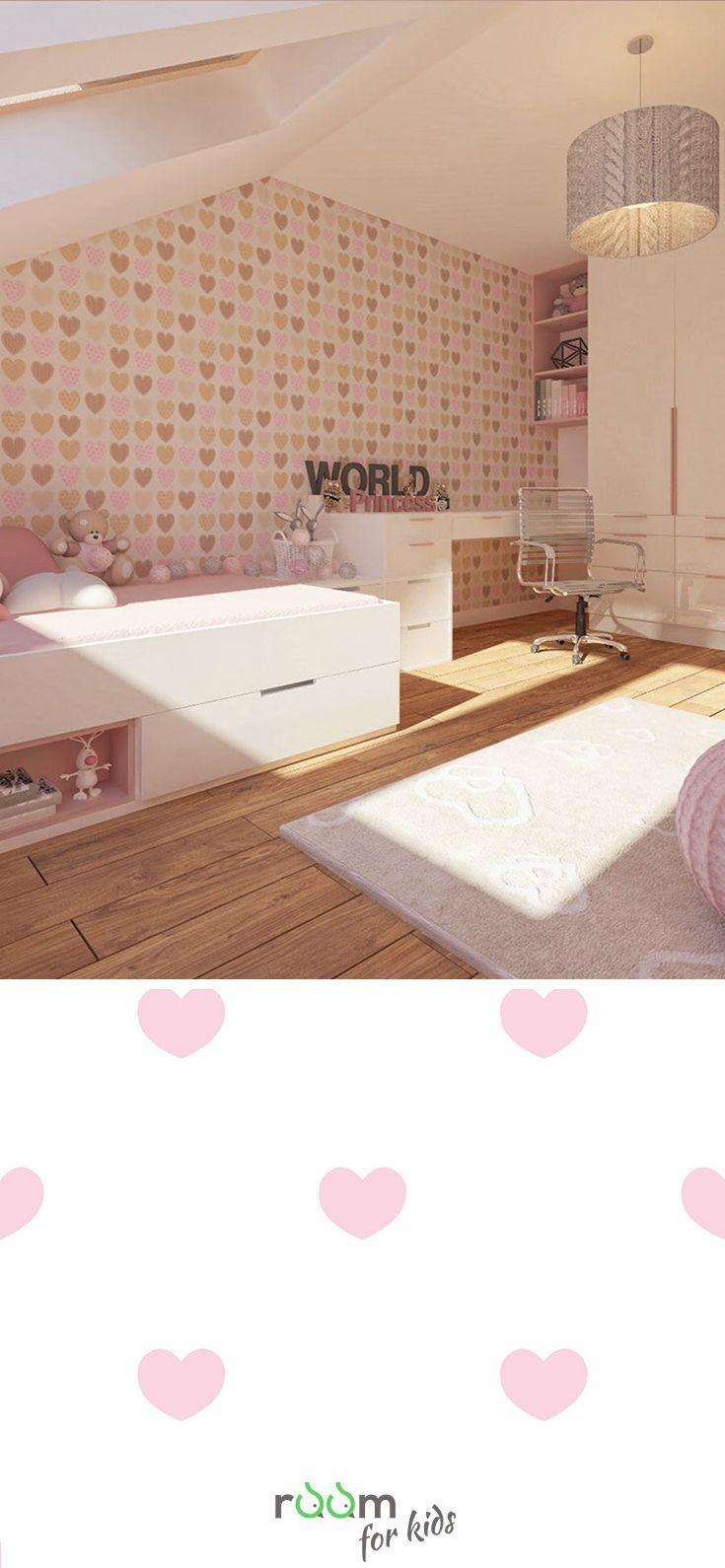 Gestaltungsidee für ein Mädchenzimmer im rosa Design in 2019 | Kids ...