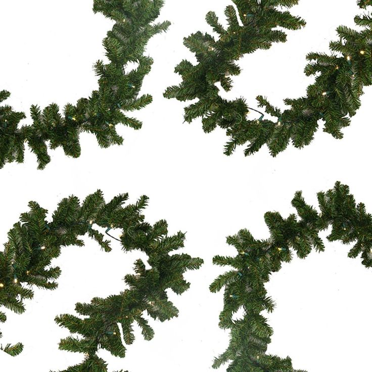 Darice 9' x 10 Pre-Lit Battery Operated Pine Christmas Garland - Warm Clear LED Lights