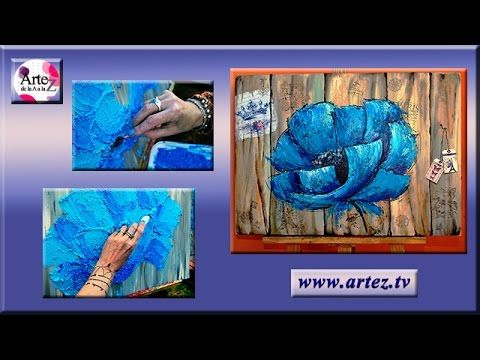 Técnica con espátula, acrílicos y texturas con gel medium