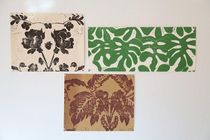 Escape to the Tropics: Leafy Handmade Wallpaper: Remodelista