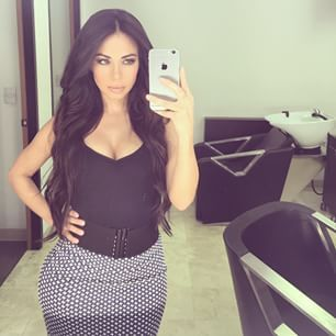 """Meet Jimena Sanchez, infamously known as the """"Mexican"""" Kim Kardashian. Sanchez's stunning features (and curvaceous body) currently rival Kardashian's growing cyber fame. The 30-year-old aspiring model already has more than a whopping 351,400 followers on Instagram (and counting). The bootylicious internet sensation hopes to reach one million fans very soon."""
