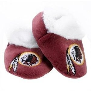 NFL Baby Booties Shoe Slippers Washington Redskins