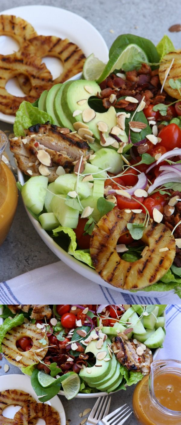 grilled pineapple sesame chicken salad chicken salad recipes grill ...