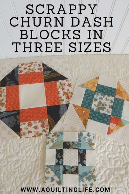Scrappy Churn Dash Blocks | Free Pattern