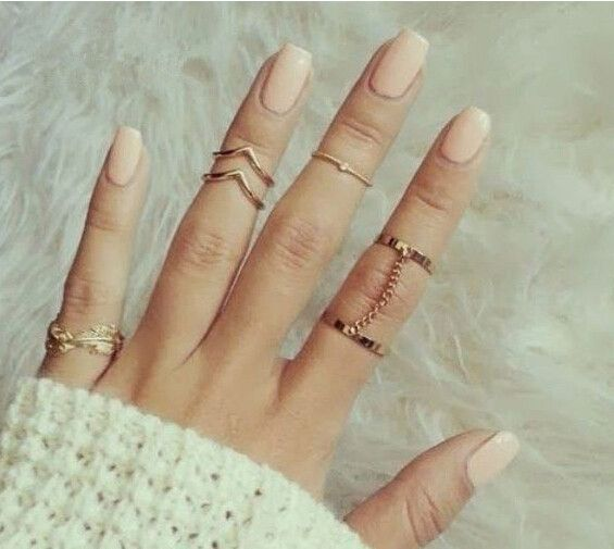 Best 25 ring finger nails ideas on pinterest ring finger design 6pcs shiny punk style gold plated stacking midi finger knuckle rings charm leaf ring set for prinsesfo Images