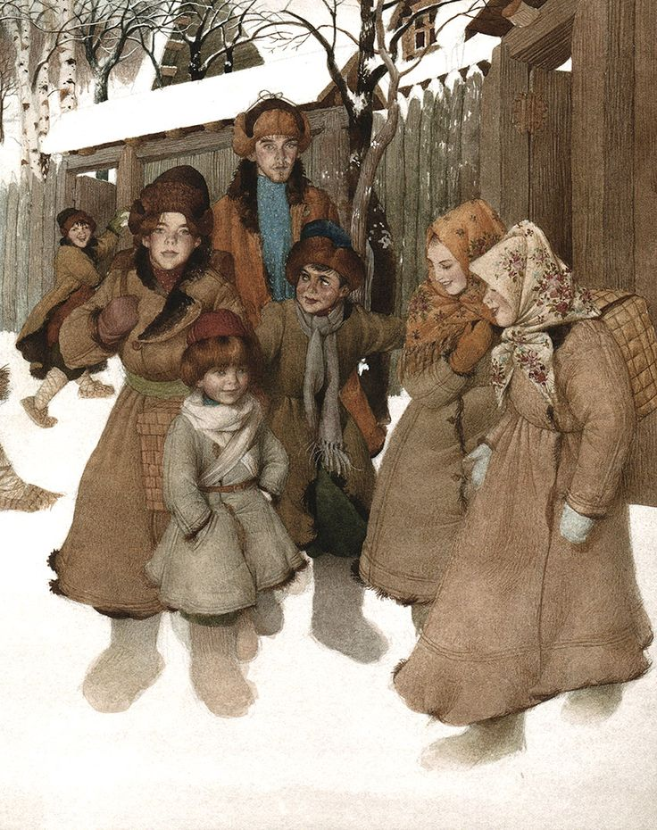 Illustration by Gennady Spirin from Tolstoy's 'Philipok'