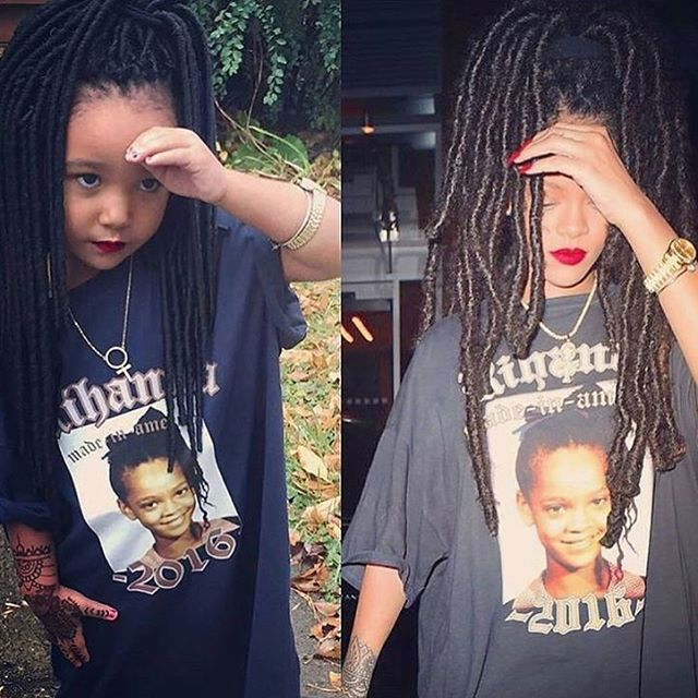 I love this mini Rihanna costume, she's ready for Halloween! 🎃