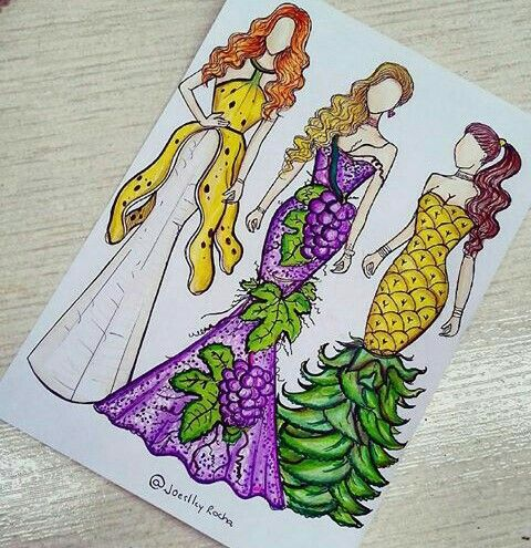 Beautiful dress and art who ever drew this .....but it is Soo much pretty