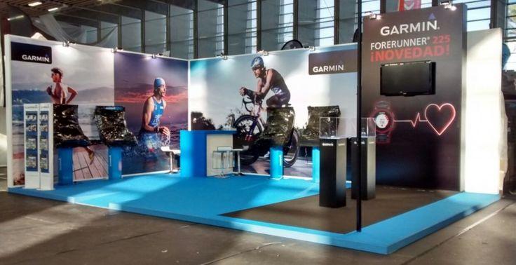 Exhibition Stand Design Barcelona : Garmin barcelona triathlon exhibition stand view