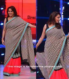 Buy Multi printed chiffon saree with blouse madhuri-dixit-saree online