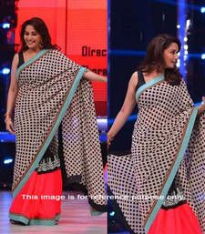 Buy Multi printed chiffon saree with blouse madhuri-dixit-saree online