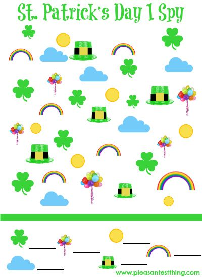 St. Patrick's Day I Spy Game {free printable!}