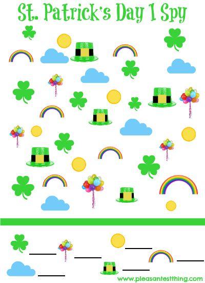 St. Patrick's Day I Spy Game {free printable!}
