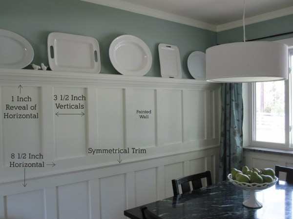 Tall white plate ledge detail ideas pinterest white for Dining room wall molding ideas