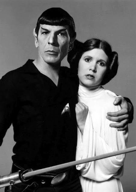 "Leonard Nimoy (Mr. Spock) ""Star Trek"" & Carrie Fisher (Princess Lea) ""Star Wars"""