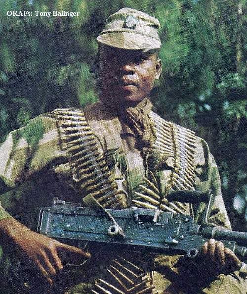 Rhodesian soldier (because the war was SO racist, wasn't it now...??!!  FFS)
