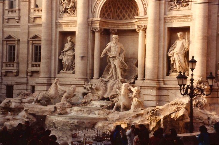 A Fontana de Trevi.