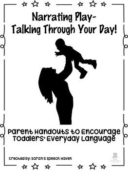 Many parents don't know where to start when it comes to talking to their little one who doesn't yet talk back. These parent-friendly handouts explain the strategies of Self-Talk and Parallel-Talk, and outline tips for using these in everyday routines with toddlers to maximize language exposure!
