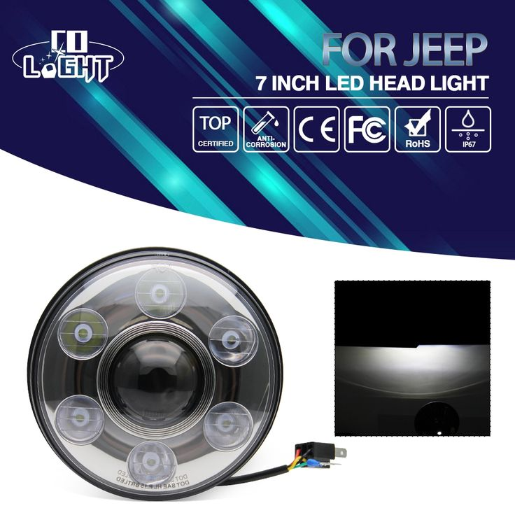 167.92$  Watch now - 2Pcs Round 7 Inch Headlights H4 Led Car Headlight 3900Lm 2800Lm H13 Cree Chip for 4X4 Off Road Jeep Lada Niva Uaz  #buyininternet