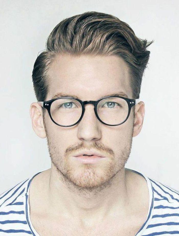 modèle de monture vintage en noir, lunettes de vue homme tendance, homme  avec une d80128a039e3