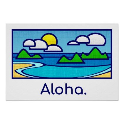 Aloha Beach Poster - summer gifts season diy template ideas