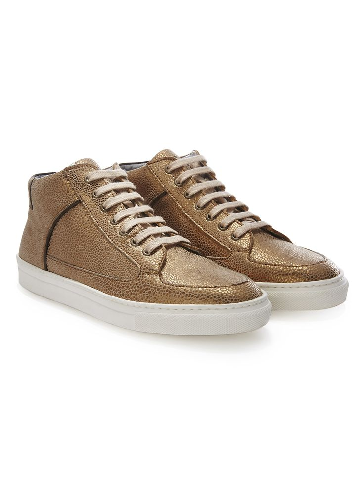BRONZE DOT SIMMY MID TOP SNEAKERS by Rose Rankin / Shoes   Young British Designers