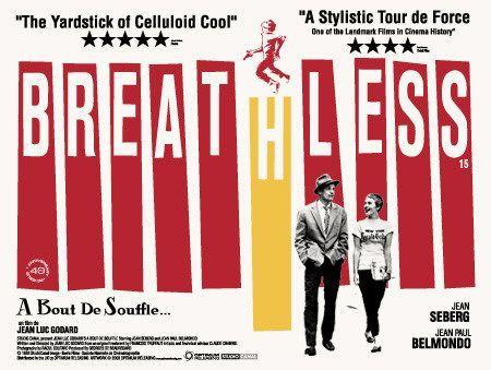 : Jeans Luc Godard, Movie Posters, Breath, Waves, Bout De, Breathless 1960, Film Posters, Film Noir, Vintage Movie