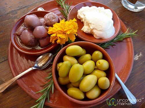 Cretan Food at Agreco Organic Farm.
