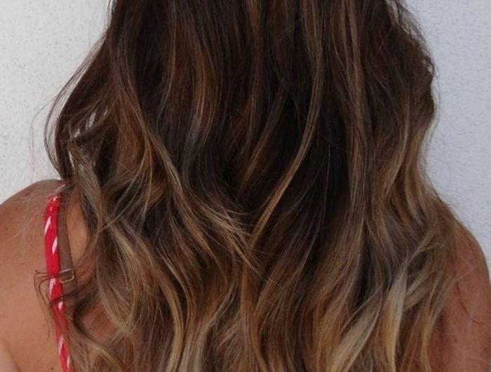 Les 25 meilleures id es de la cat gorie marron glac cheveux sur pinterest couleur marron - Balayage marron glace ...