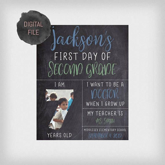 Check out this item in my Etsy shop https://www.etsy.com/ca/listing/527998388/custom-first-day-of-school-chalkboard