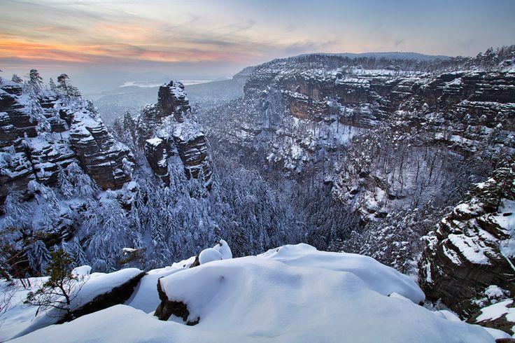Winter in the Czech Republic Winter in the Rocks by Martin Rak on 500px