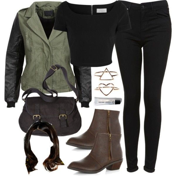 Allison Inspired Outfit with Requested Jacket by veterization on Polyvore featuring moda, Preen, Topshop, Mossimo Supply Co. and Bobbi Brown Cosmetics