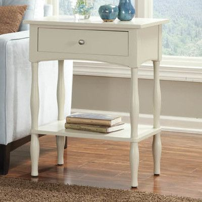 Beautiful Alaterre Cottage End Table/Nightstand   Sand, Tan
