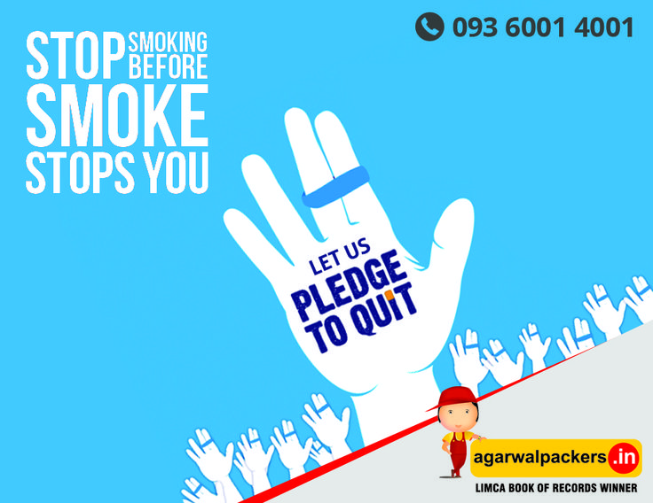 Today is World No Tobacco Day on every may 31st Let's make every day a No Tobacco Day - celebrate Life - say no to tobacco & stay healthy! #WorldNoTobaccoDay #NoTobacco #AwarenessDay #HealthyYouHealthyIndia #Agarwal #packers #movers #drsgroup #Largestmovers #bestpackersandmovers #india