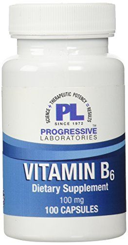 Progressive Labs B6 Capsules 100 Count * For more information, visit image link. (It is an affiliate link and I receive commission through sales)