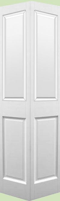 Victorian 2 Panel White Bi-fold Door (pre-finished): Internal And External Wooden Front Doors – Fine-Doors.co.uk