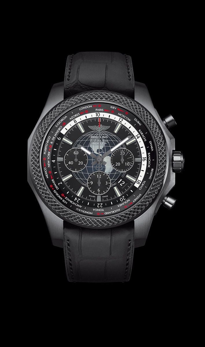 Pour ceux qui ont fait du voyage un art de vivre, Breitling for Bentley a créé la Bentley B05 Unitime, un chronographe à heure universelle doté d'un mouvement manufacture novateur avec mécanisme breve...