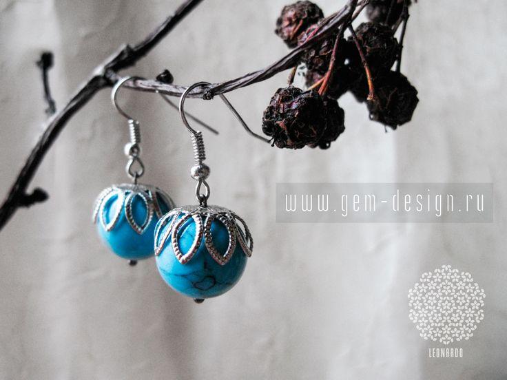 http://gem-design.ru/statii/kamni/biruza.html  Купить серьги с бирюзой в интернет магазине gem-design.ru Широкий выбор бижутерии ручной работы с натуральными камнями. Авторские серьги Leonardo - это изысканный подарок для себя любимой!  #серьги #украшение #мода #стиль #девушки
