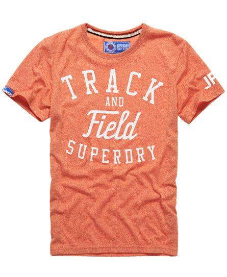Mens - Trackster T-shirt in Ohio Orange   Superdry