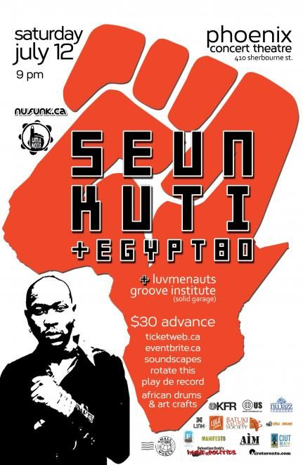 @ErrolNazareth @CBC previews @RealSeunKuti Egypt 80 live #To July 12  @metromorning Thurs just before 8 am @nufunk